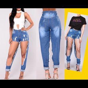 Denim - Cut open jeans